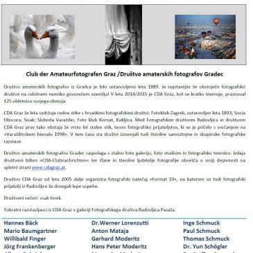 Skupinska fotografska razstava CDA iz Gradca, Avstrija