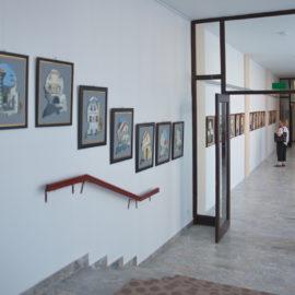 Grajski dvor – slikarska razstava Ljuba Kozica, člana Fotografskega društva Radovljica