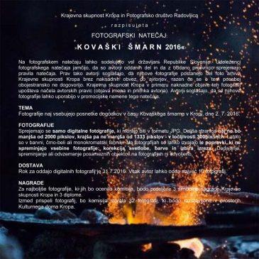 Fotografski natečaj: Kovaški šmarn 2016
