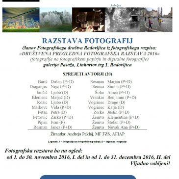 Društvena pregledna razstava 2016/2