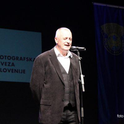 Predsednik FZS Ivo Borko  - sledi podelitev razstavljalskih naslovov