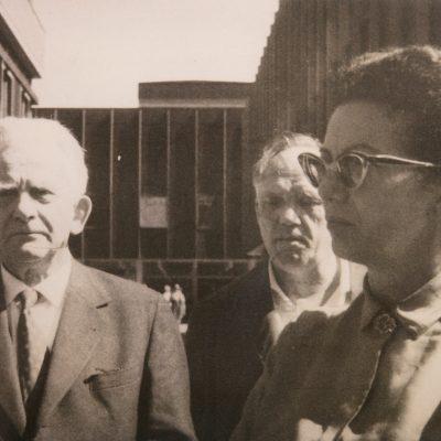 Josip Vidmar, Matej Bor in Mira Mihelič okoli leta 1964