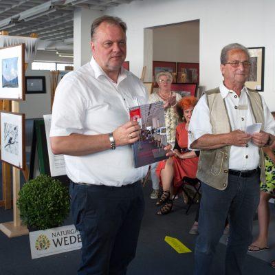 Župan Feldkirchna g. Martin Treffner (levo) s predsednikom FC Blende 22, Horstom Maurerjem (desno)