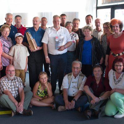 Radovljičani in člani FC Blende 22 z županom Martinom Treffnerjem