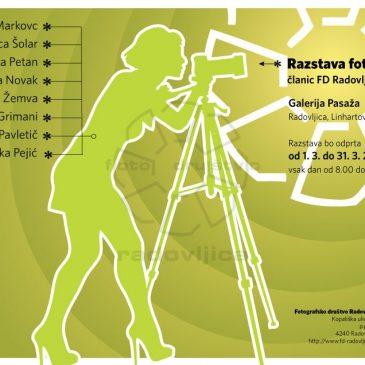 """Marec"", fotografska razstava članic Fotografskega društva Radovljica"