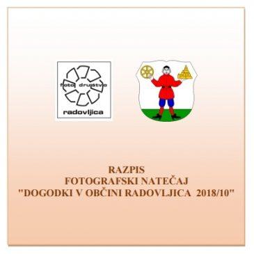 """Razpis """"DOGODKI V OBČINI RADOVLJICA 2018/10"""""""