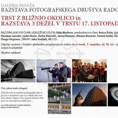 Plakat razstave Trst z okolico