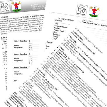 Razpis »Dogodki v občini Radovljica 2019/11«